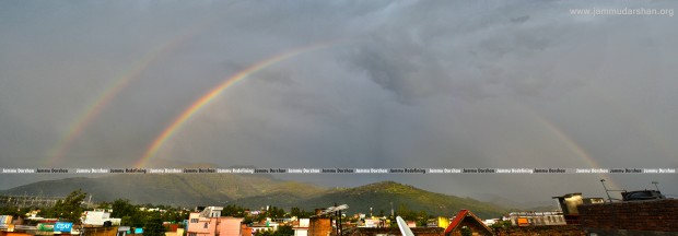 Rainbow over Udhampur City